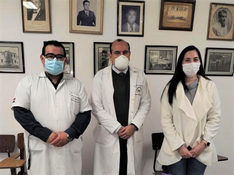 Dres. Marcelo Villalba, Jorge Arias y Angélica Santos